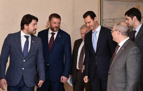 Российская делегация побывала в Дамаске.