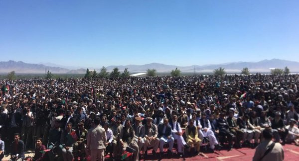 Фото с собрания представителей избирательной кампании Ашрафа Гани.