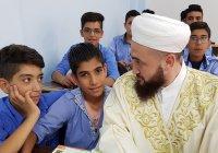 Муфтий РТ пообщался с учащимися сирийской школы, восстановленной благодаря помощи мусульман