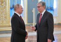 Путин провел встречу с президентом Казахстана