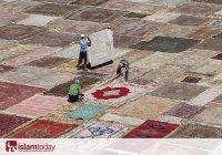 Такого вы еще не видели: 25 тысяч ковров ручной работы выгорают под солнцем