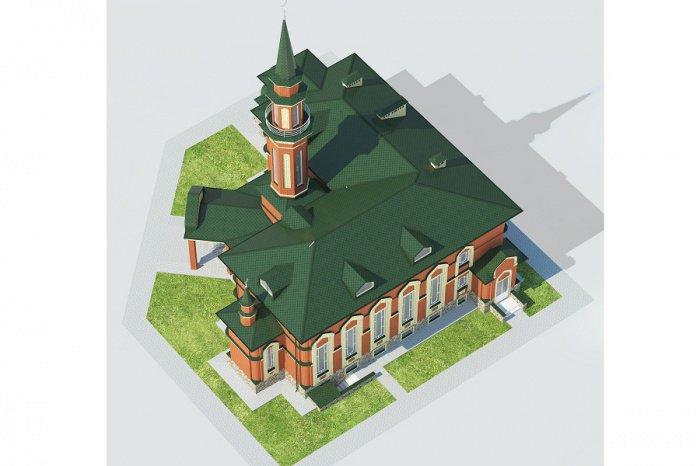 По проекту мечеть будет двухэтажной.