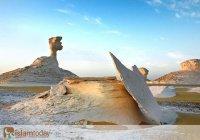 Белая пустыня: как выглядит уснувший океан в Египте? (Фото)