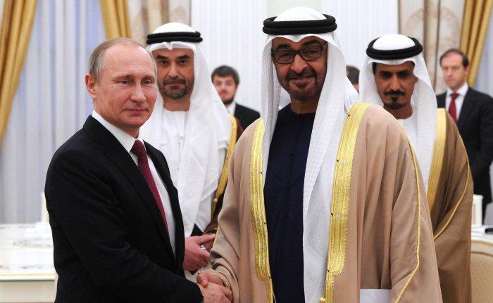 Путин и Аль Нахайян на встрече в Москве в 2016 году.