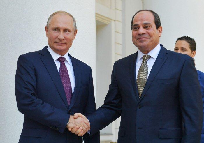 Владимир Путин и Абдель Фаттах ас-Сиси.