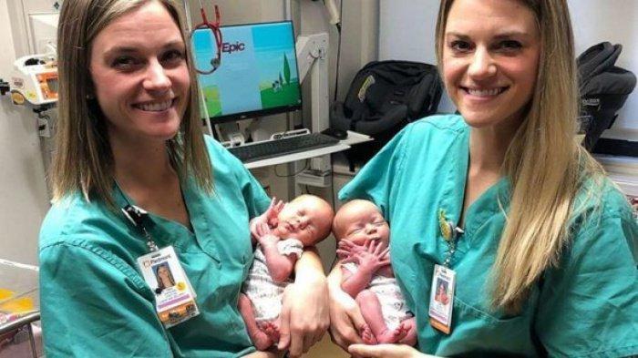 Будущие родители удивились, увидев в родильном зале врачей, очень похожих друг на друга