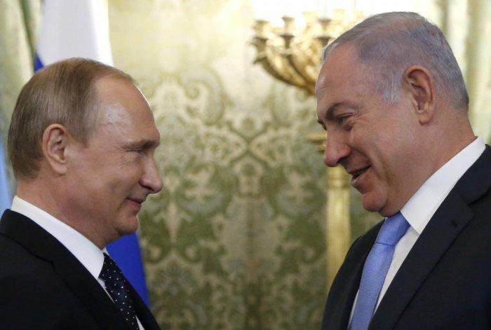 Лидеры России и Израиля на встрече в 2017 году.