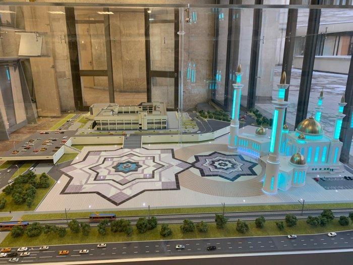 Опубликованы фото макета Соборной мечети «Джамиг» в Челнах