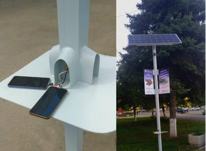 Это многофункциональный фонарь, оборудованный аккумуляторной батареей и солнечными батареями