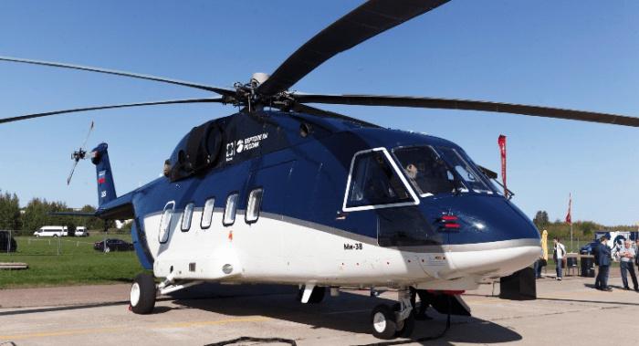 Гражданский вертолет Ми-38.