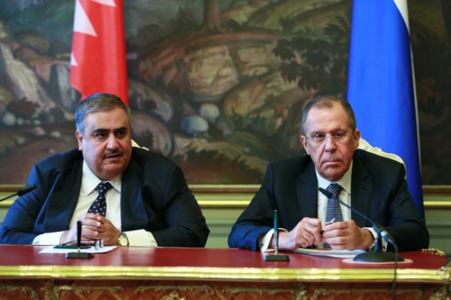 Главы МИД России и Бахрейна на встрече в 2015 году.