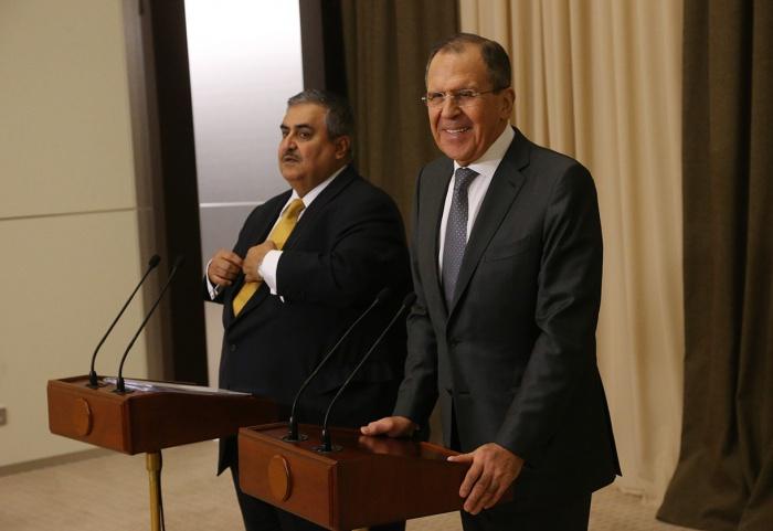 Лавров и аль-Халифа на встрече в 2016 году.