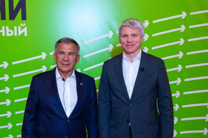Минниханов и Колобков на встрече в Москве.