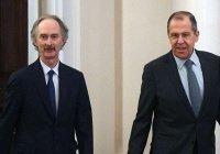 Сергей Лавров встретился со спецпосланником ООН по Сирии