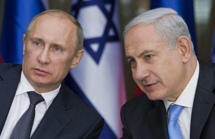 Путин и Нетаньяху на встрече в Москве.