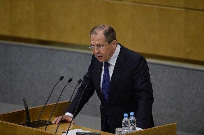 Сергей Лавров выступил в Госдуме.