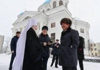 Минниханов и Шаймиев посетили Собор Казанской иконы Божией Матери