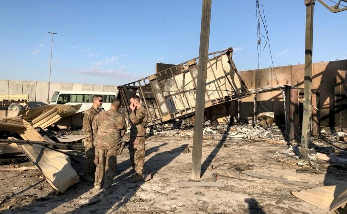 База Айн-Аль-Асад после авиаудара Ирана.
