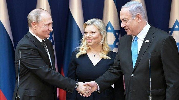 Путин и Нетаньяху в резиденции израильского премьера в Иерусалиме.