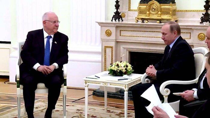 Президенты России и Израиля на встрече в Иерусалиме.