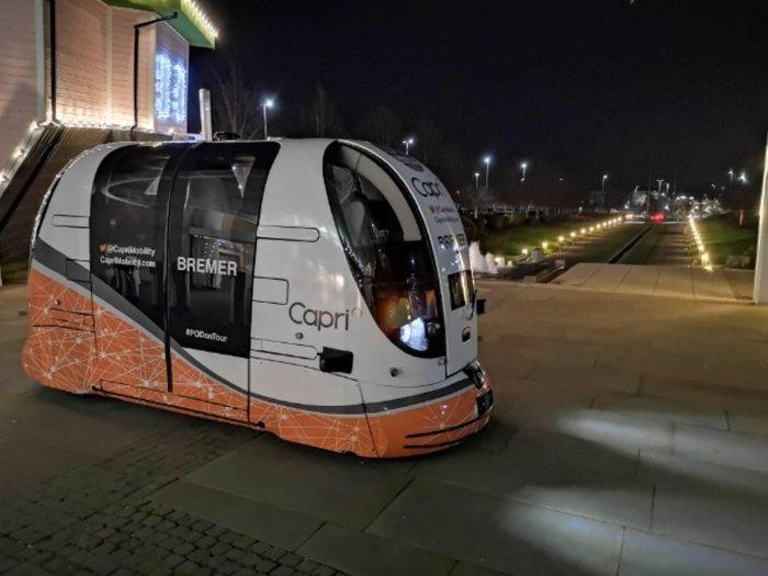 Роботизированные транспортные модули похожи на микроавтобусы без водителей