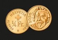 Самую маленькую золотую монету отчеканили в Швейцарии