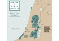 Трамп расчертил новую карту границ Палестины и Израиля