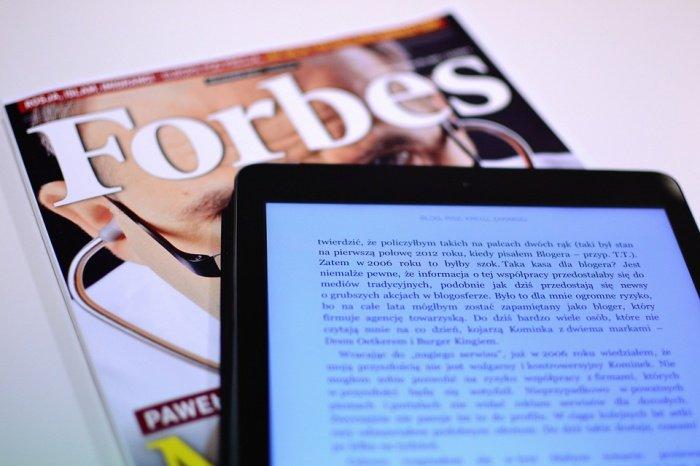 О смене лидера гласят данные рейтинга Forbes Real-Time, обновляющиеся в режиме реального времени