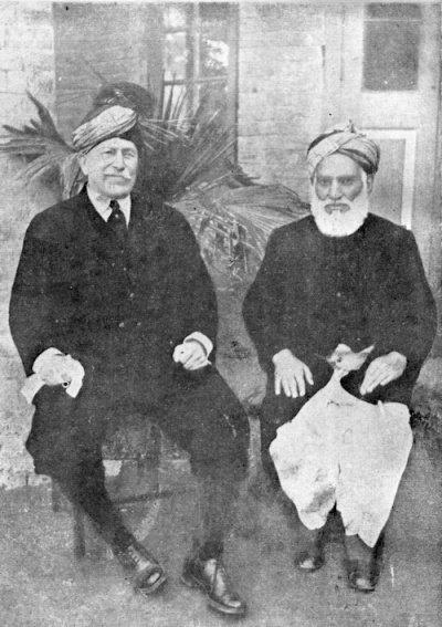Лорд Хедли с Мауланой Гулам Хасан Ханом из Пешавара. Во время своего визита в Индию в 1927-1928 годах.