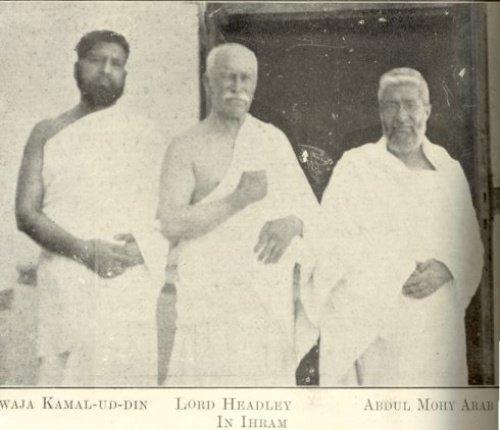 Лорд Хедли с Ходжой Камаладдином и Абдулмохи Арабом во время хаджа в 1923 году