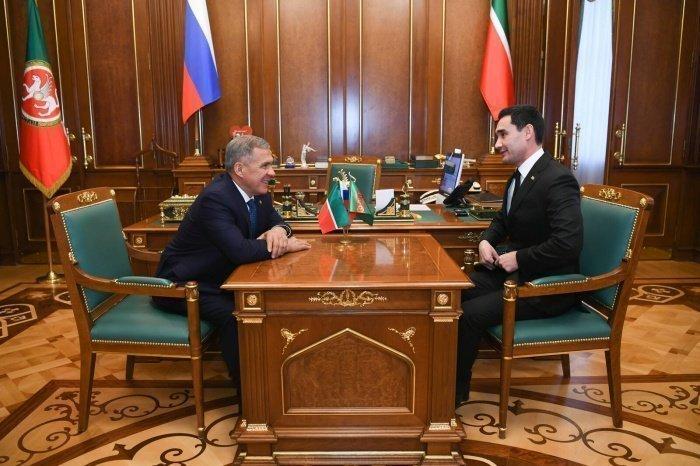 Встреча прошла в Казанском Кремле.
