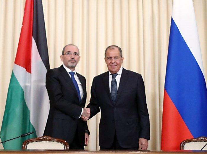 Лавров и ас-Сафади на встрече в Москве.
