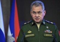 Шойгу: правительство Сирии контролирует более 90% территории страны