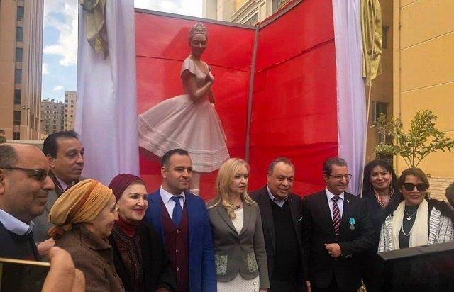 Российские и египетские дипломаты на церемонии.