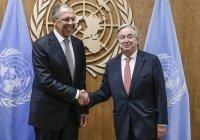 Сергей Лавров встретился с генсеком ООН и спецпосланником по Сирии