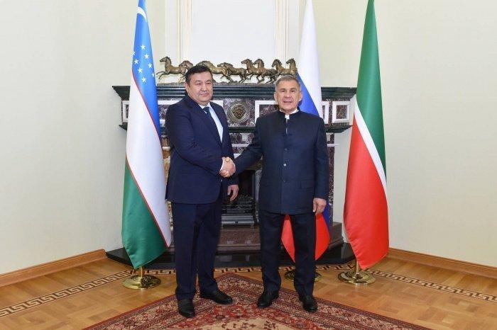 Минниханов и Барноев на встрече в Казани.