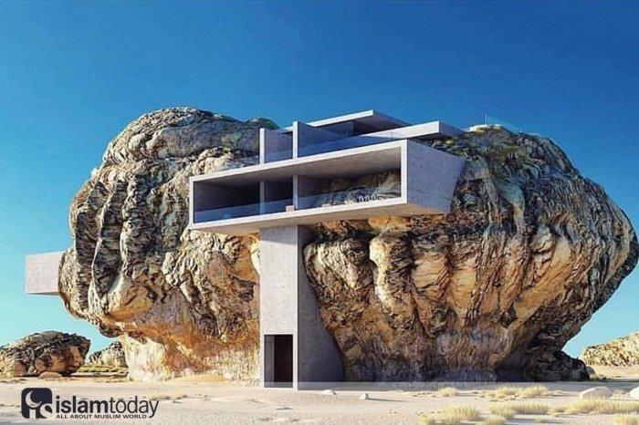 «Дом внутри скалы» – футуристический 3D проект шанхайского архитектора Амея Кандалгаонкара. (Источник фото: designboom.com)