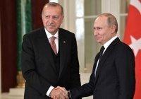 Путин поздравил Эрдогана с днем рождения
