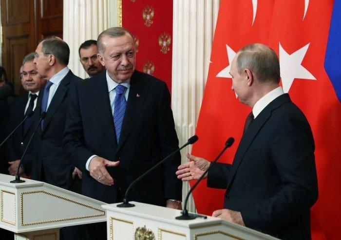 Переговоры президентов России и Турции прошли в Москве.