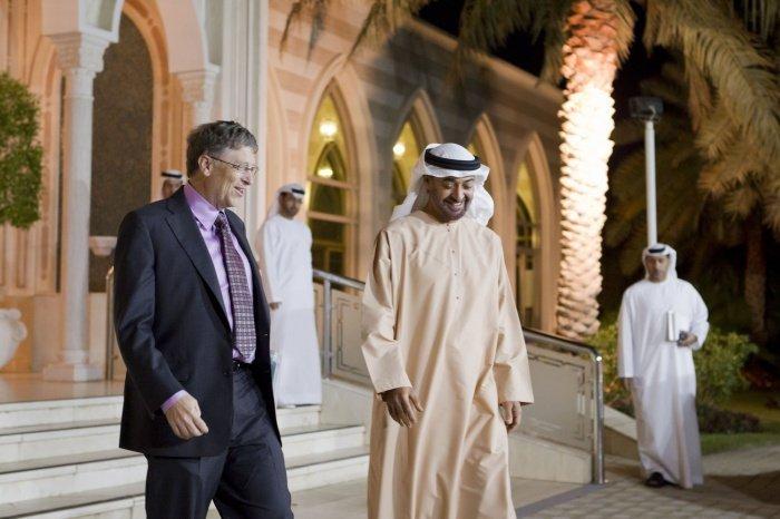 Аль Нахайян и Гейтс на одной из предыдущих встреч.