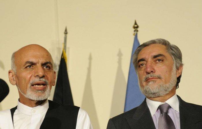 Ашраф Гани и Абдулла Абдулла.