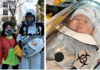 В Китае отец смастерил защитную капсулу для прогулок с сыном