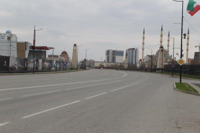 В Грозном действует режим самоизоляции.