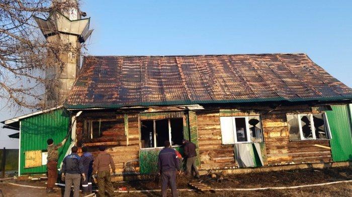 В Татарстане сгорела мечеть