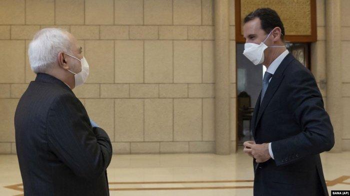 Зариф и Асад на встрече в Дамаске.