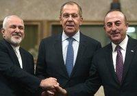 Главы МИД России, Ирана и Турции обсудили Сирию и борьбу с коронавирусом