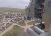 Российские вертолеты патрулируют район операции Турции в Сирии