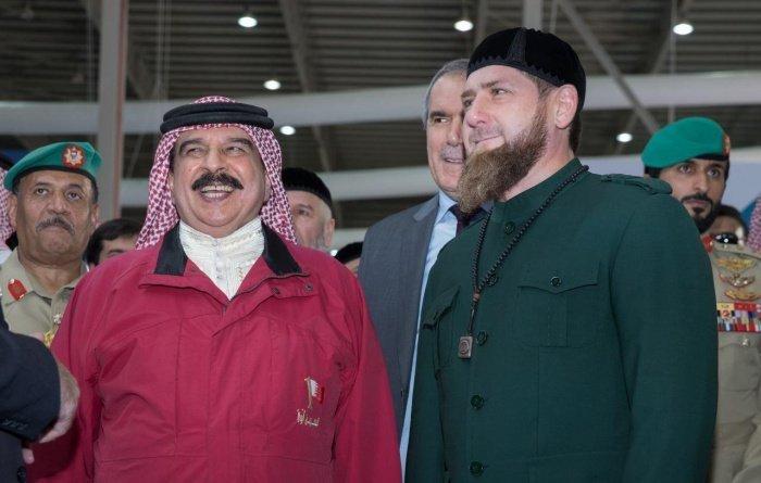 Лидеры Чечни и Бахрейна на одной из предыдущих встреч.
