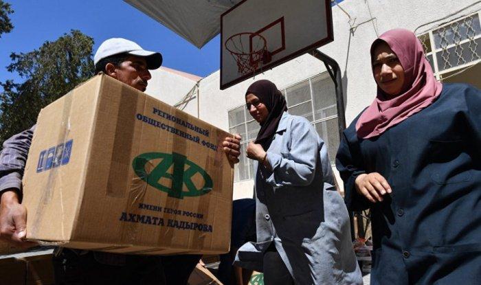 Жители Сирии получили помощь от фонда Кадырова.