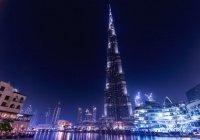 Небоскреб Бурдж-Халифа в Дубае окрасили в цвета флага Татарстана (ФОТО)